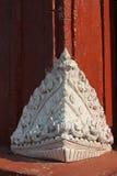 Diseño tailandés de la decoración del pilar Fotos de archivo libres de regalías