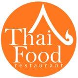 Diseño tailandés de la insignia del restaurante del alimento Fotos de archivo libres de regalías