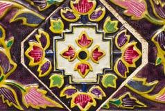 Diseño tailandés del modelo en la pared Fotografía de archivo libre de regalías