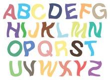 Diseño temblante de la fuente de vector de los alfabetos Fotos de archivo libres de regalías