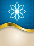 Diseño texturizado flor abstracta del folleto ilustración del vector