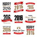 Diseño tipográfico de la Feliz Año Nuevo libre illustration