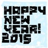Diseño tipográfico de la Feliz Año Nuevo del Grunge Ilustración del vector Foto de archivo libre de regalías