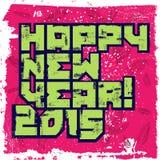 Diseño tipográfico de la Feliz Año Nuevo del Grunge Ilustración del vector Imagen de archivo