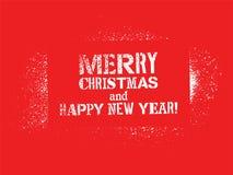 Diseño tipográfico de la Navidad de la pintada Tarjeta del vintage del vector Imágenes de archivo libres de regalías
