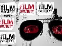 Diseño tipográfico de la pintada para la sociedad de la película Ilustración del vector Imagen de archivo