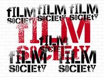 Diseño tipográfico de la pintada para la sociedad de la película Ilustración del vector Foto de archivo libre de regalías