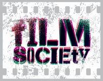 Diseño tipográfico de la pintada para la sociedad de la película Ilustración del vector Imagenes de archivo