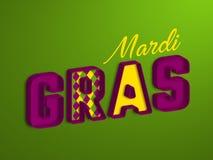 Diseño tipográfico de Mardi Gras stock de ilustración