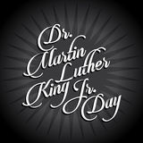 Diseño tipográfico de Martin Luther King Day Foto de archivo