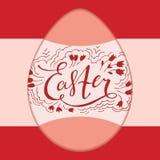 Diseño tipográfico retro de Pascua stock de ilustración