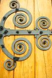Diseño torcido en espiral de la puerta Imagen de archivo