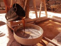 Diseño tradicional de la teja Fotografía de archivo
