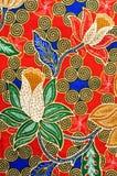 Diseño tradicional del batik Imágenes de archivo libres de regalías