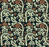 Diseño tradicional inconsútil del batik stock de ilustración