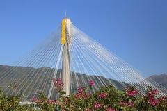 Diseño triangular de Ting Kau Bridge Imágenes de archivo libres de regalías