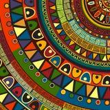 Diseño tribal coloreado Foto de archivo