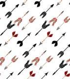 Diseño tribal de las flechas ilustración del vector