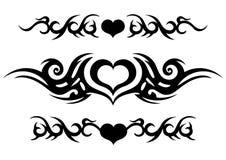 Diseño tribal del tatuaje, modelo céltico adornado con el corazón, tira del tatuaje alrededor del brazo o pierna, impresión abstr stock de ilustración