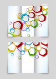 Diseño triple de la plantilla del folleto ilustración del vector