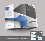 Diseño triple del folleto de la moda stock de ilustración