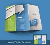 Diseño triple del folleto del centro de atención telefónica stock de ilustración