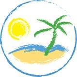 Diseño tropical del recorrido Foto de archivo libre de regalías