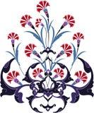 Diseño turco del tulipán del pavo tradicional del otomano stock de ilustración