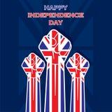 Diseño unido Día de la Independencia feliz del estado ilustración del vector