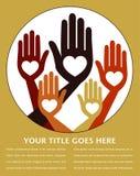 Diseño unido provechoso de las manos. Foto de archivo libre de regalías