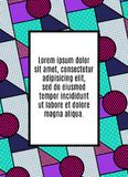 Diseño universal creativo en estilo geométrico Fondos con los elementos abstractos Foto de archivo libre de regalías