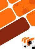 Diseño urbano anaranjado Imágenes de archivo libres de regalías