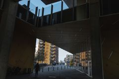 Diseño urbano danés moderno foto de archivo libre de regalías