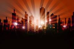 Diseño urbano del horizonte ilustración del vector