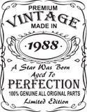 Diseño vectorial de la impresión de la camiseta El vintage superior hizo en 1988 una estrella fue llevado envejeció a la perfecci libre illustration
