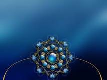 Diseño vectorizado de la disposición del fractal del fondo de la foto Imagenes de archivo