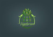 Diseño vegetariano global del símbolo Fotografía de archivo