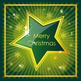 Diseño verde de la Navidad Imagenes de archivo