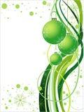 Diseño verde de la Navidad del vector Fotografía de archivo
