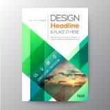 Diseño verde de la plantilla del folleto del negocio Imágenes de archivo libres de regalías