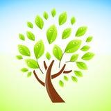 Diseño verde del árbol ilustración del vector