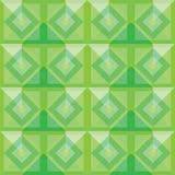 Diseño verde del fondo de los cuadrados del extracto Imagenes de archivo