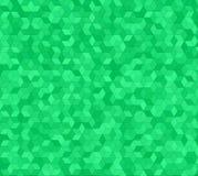 Diseño verde del fondo del modelo de mosaico del cubo 3d stock de ilustración