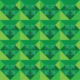 Diseño verde inconsútil del fondo de los cuadrados Imagen de archivo libre de regalías