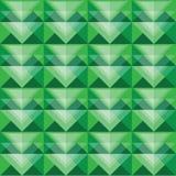 Diseño verde inconsútil del modelo del triángulo Ilustración del Vector