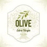 Diseño verde oliva de las etiquetas Fotos de archivo