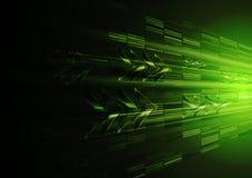 Diseño verde del movimiento de la tecnología con las flechas Imágenes de archivo libres de regalías