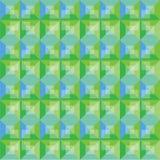 Diseño verde y azul del fondo abstracto del modelo Fotos de archivo libres de regalías