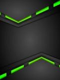 Diseño verde y negro de la tecnología de las pendientes del contraste Imágenes de archivo libres de regalías