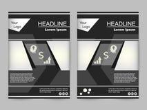 Diseño verde y negro del folleto Fotos de archivo